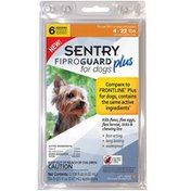 Sentry Pro Fiproguard Plus Topical Flea & Tick Treatment for 4-22 Pound Dogs & Puppies