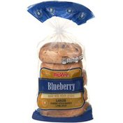 Hy-Vee Blueberry Made With Whole Grains Larger Bakery Style Bagels
