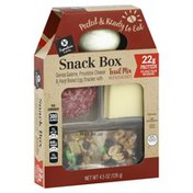 Signature Cafe Genoa Salame, Provolone Cheese & Hard Boiled Egg Snacker With Trail Mix Of Nuts And Sweets Snack Box