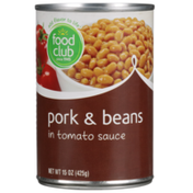 Food Club Pork & Beans In Tomato Sauce