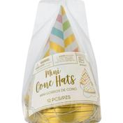 Amscan Cone Hats, Mini