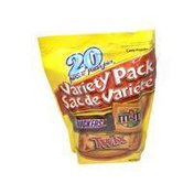 Mars 20 Piece Fun Size Snicker, Twix & M&M Peanut Candy Variety Pack