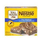 Nestle Toll House Pre-Melted Unsweetened Chocolate Flavor Choco Bake - 8 CT