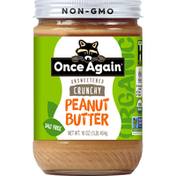 Once Again Peanut Butter, Organic, Crunchy, Unsweetened