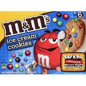 M&M's Ice Cream Cookie Sandwich