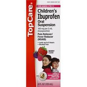 TopCare Ibuprofen, Children's, Oral Suspension, Berry Flavor