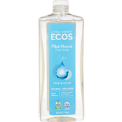ECOS Dish Soap, Free & Clear, Plant Powered