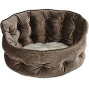 """Harmony 18"""" x 17"""" Tufted Brown Cat Bed"""