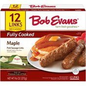 Bob Evans Farms Fully Cooked Maple Pork Sausage Links