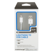 Mobilcharge Lightning to USB Sync and Charge Cable 6.6 FT