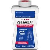 Zeasorb Jock Itch Super Absorbent Powder Antifungal Treatment
