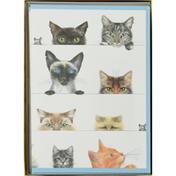 Caspari Boxed Notes, Assorted, Kitties