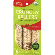 Crunchy Rollers Rice Snacks, Organic, Strawberry