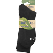 EcoSox Socks, Diabetic, Non-Binding Top, Large