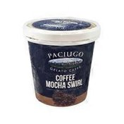 Paciugo Gelato & Caffe Coffee Mocha Swirl Gelato
