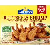 Gorton's Shrimp, Butterfly, with Crunchy Panko Breadcrumbs, Family Pack