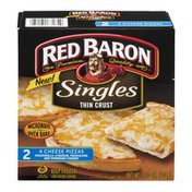 Red Baron Pizza Singles Thin Crust 4 Cheese - 2 CT