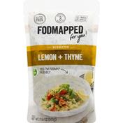 Fodmapped Risotto, Lemon + Thyme