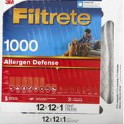 Filtrete Air Filter, 1000 Allergen Defense, 12x12x1 Inches