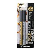 Pilot Gold & Silver Markers Extra Fine Point - 2 CT
