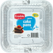 Krasdale Cake Pans, Square, 3 Pack