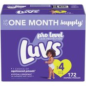 Luvs Pro Level Leak Protection Diapers Size 4