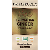 Dr. Mercola Ginger, with Benegut, Fermented, Capsules