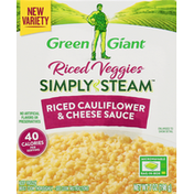 Green Giant Simply Steam Riced Cauliflower & Cheese Sauce Riced Veggies