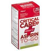 Urgent Rx Aspirin, To-Go, 325 mg, Lemon-Lime