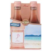 Barefoot Rose Wine 4 Single Serve Bottles