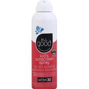 All Good Sunscreen, Kid's, Spray, Broad Spectrum SPF 30