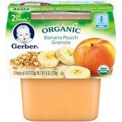 Gerber Organic 2 Nd Foods 2F Organic Banana Peach Granola Organic Purees Fruit/Grain