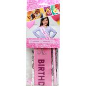 Unique Birthday Sash, Premium, Disney Princess, 3+