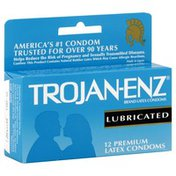 Trojan Condoms, Premium Latex, Lubricated