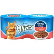9Lives Meaty Pate with Real Tuna & Shrimp Cat Food