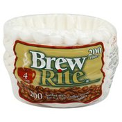 Brew Rite Coffee Filters, Basket-Style, 4 Cup