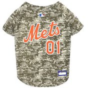 Pets First Extra Large New York Mets Camo Pet Baseball Jersey