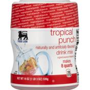 Food Lion Drink Mix, Tropical Punch, Jar