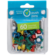 Simply Done Push Pins, Color