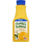 Florida's Natural 100% Juice, Orange, No Pulp, with Calcium + Vitamin D