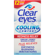Clear Eyes Cooling Comfort Redness Relief Lubricant/Redness Reliever Eye Drops