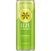 Izze Sparkling Beverage, Lemon Lime