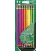 Ticonderoga Noir Pencils, Premium Wood, No.2 HB