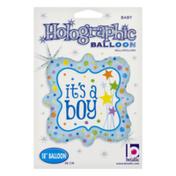 Betallic Holographic Balloon It's A Boy