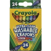 Crayola Washable Crayons, Nontoxic, Ultra-Clean