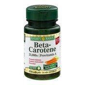 Nature's Bounty Beta-Carotene Softgels - 100 CT