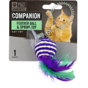 Companion Cat Toy Feather Ball & Spring Toy