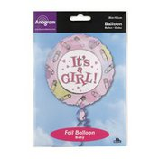 """Anagram Foil Balloon 18"""" It's a Girl Pins and Dots"""