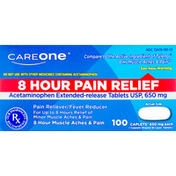 CareOne Pain Relief, 8 Hour, 650 mg, Caplets