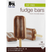 Food Lion Fudge Bars, Fat Free, Frozen Chocolate Dessert, Box
